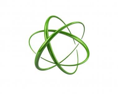 Green atom symbol