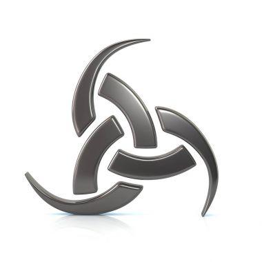 Silver triple horn of Odin
