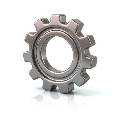 silver gear wheel icon