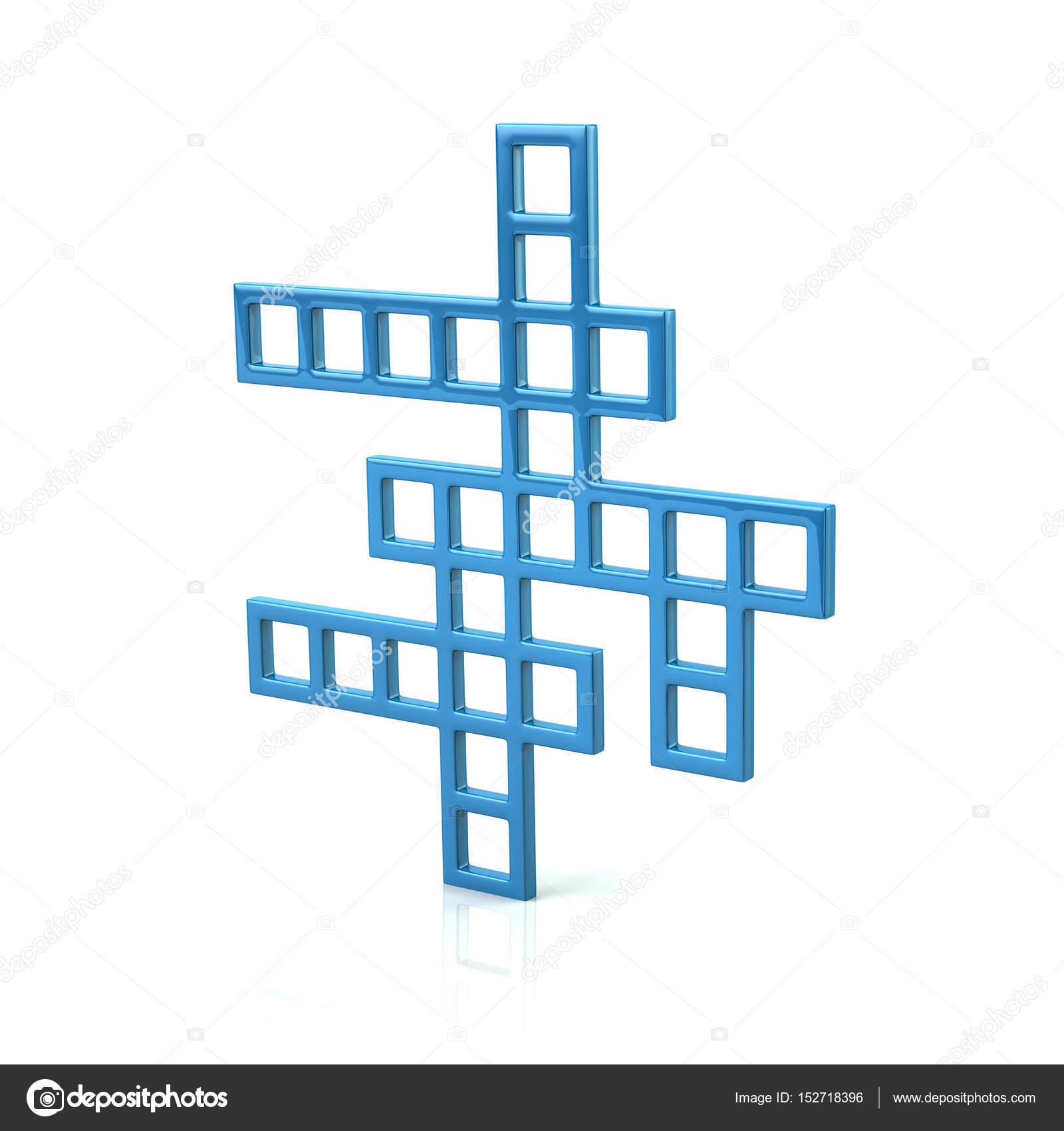 Blaue Kreuzworträtsel Symbol Stockfoto Valdum 152718396
