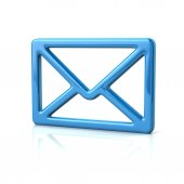 Photo Blue mail icon