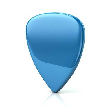 Blue guitar pick