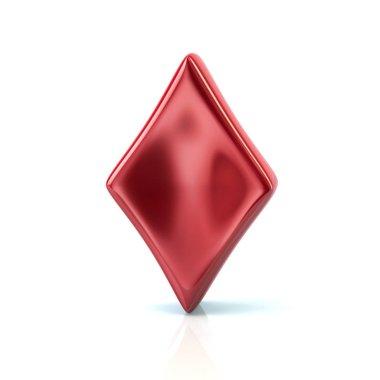 Red diamond card achievers symbol
