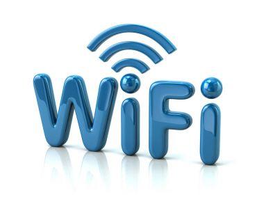 Blue letters WiFi