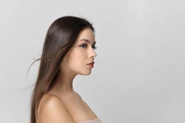 Portrait of girl in profile