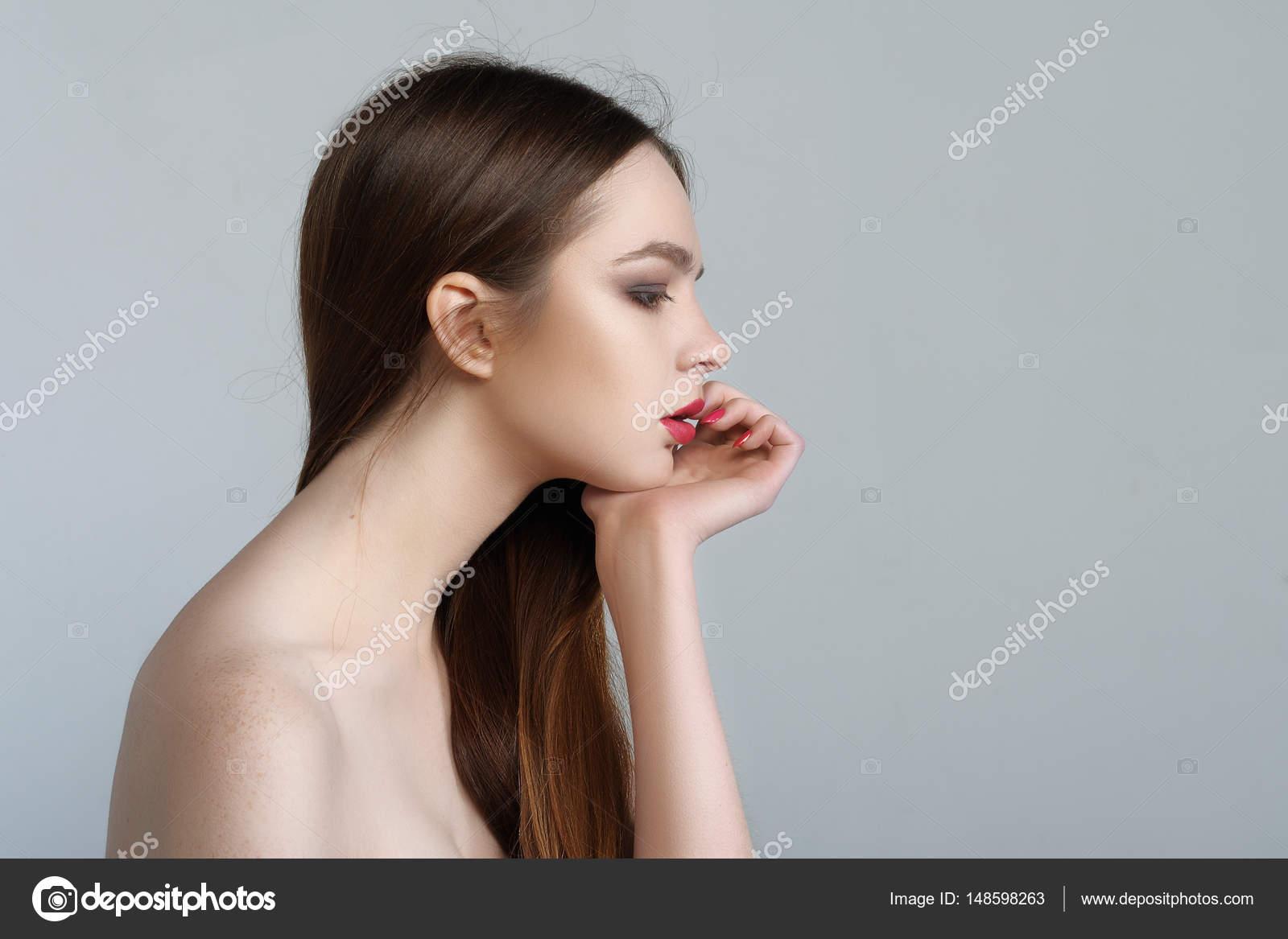 hals flicka bild