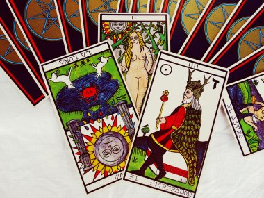 Prediction by Fortune Teller on the Tarot cards