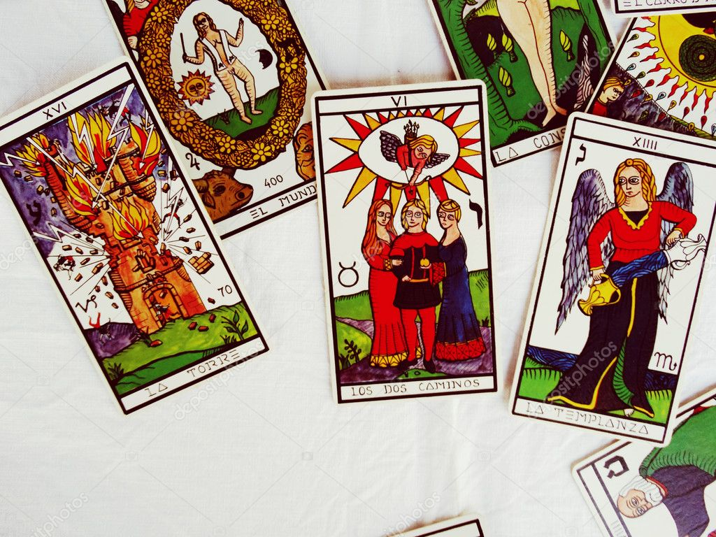 Prediction by Fortune Teller on the Tarot cards – Stock