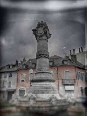 Square with Fountain in Tarbes France