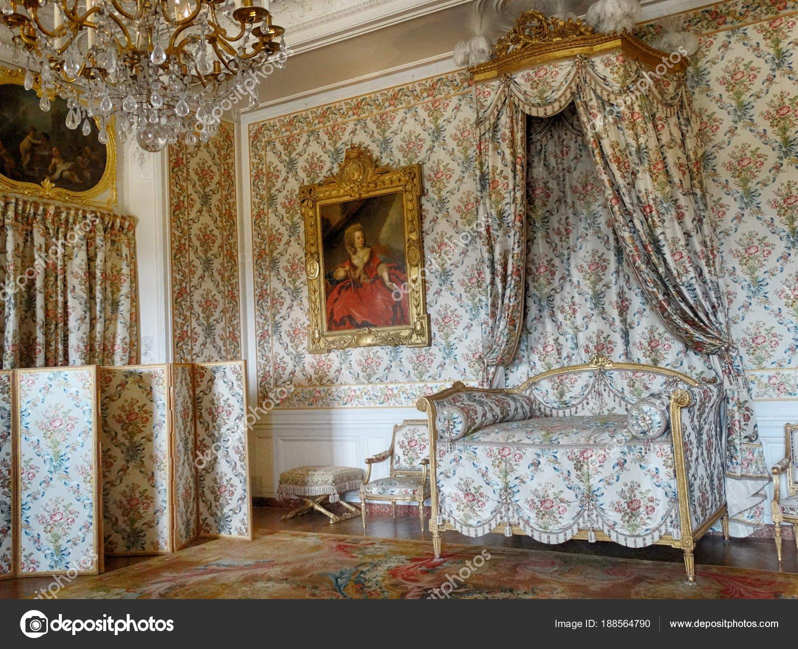 Schlafzimmer Schloss Von Versailles Paris Frankreich März 2018 ...