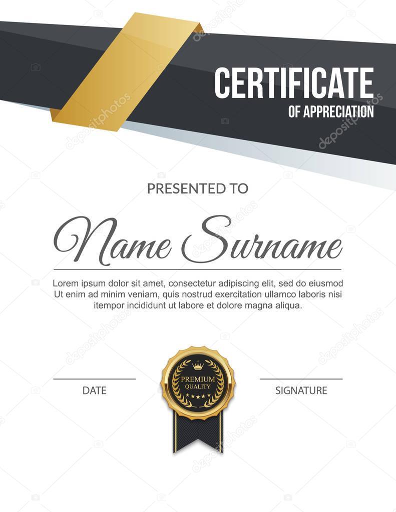 Vektor-Zertifikatvorlage — Stockvektor © sarawuth702 #130154116