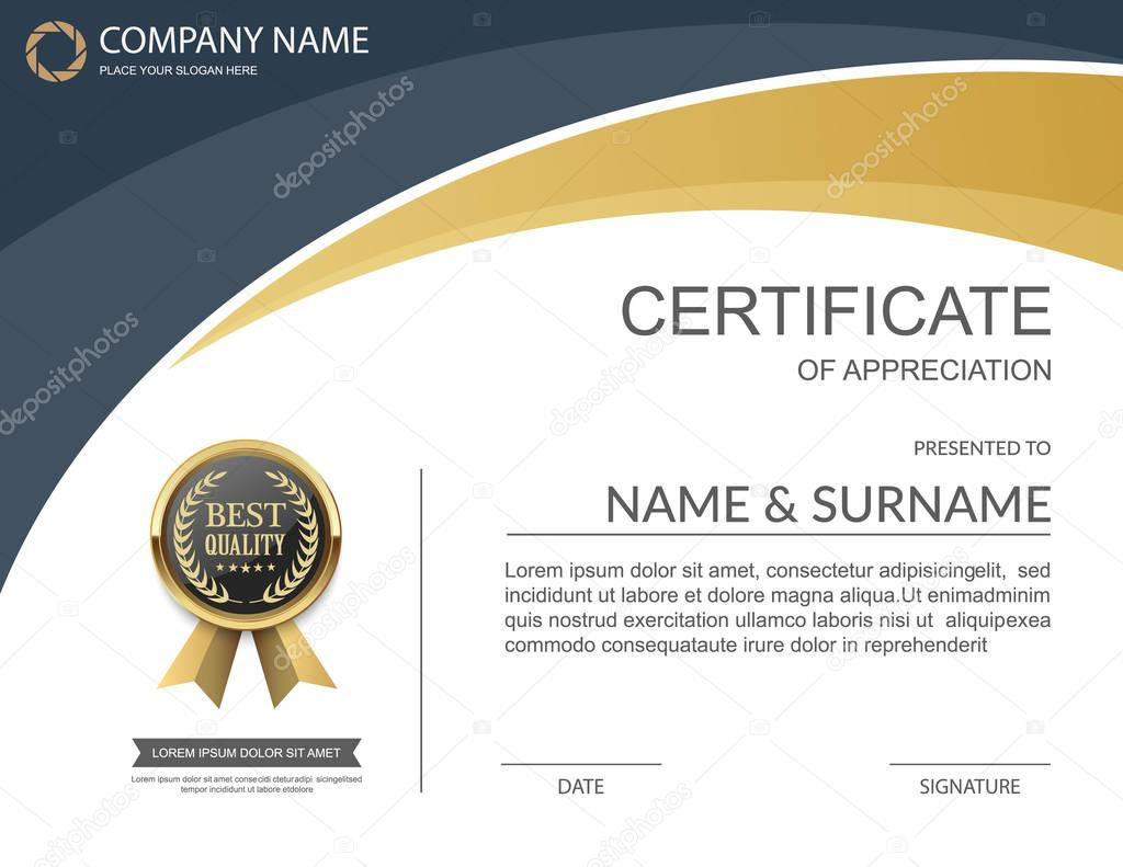 Vektor-Zertifikatvorlage — Stockvektor © sarawuth702 #130154482