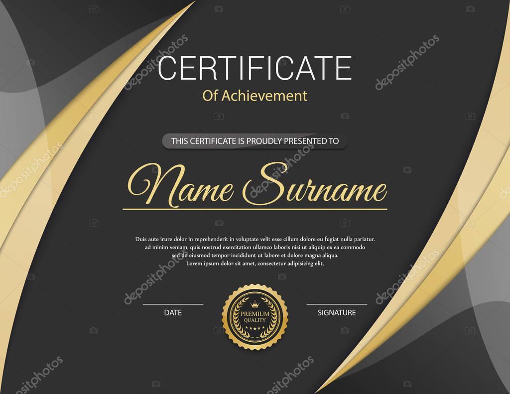 Vektor-Zertifikatvorlage — Stockvektor © sarawuth702 #130155394