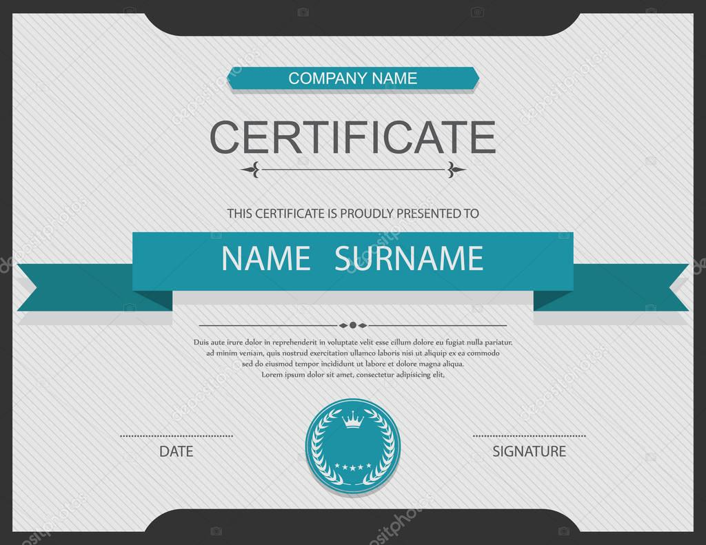 Vektor-Zertifikatvorlage — Stockvektor © sarawuth702 #130155676
