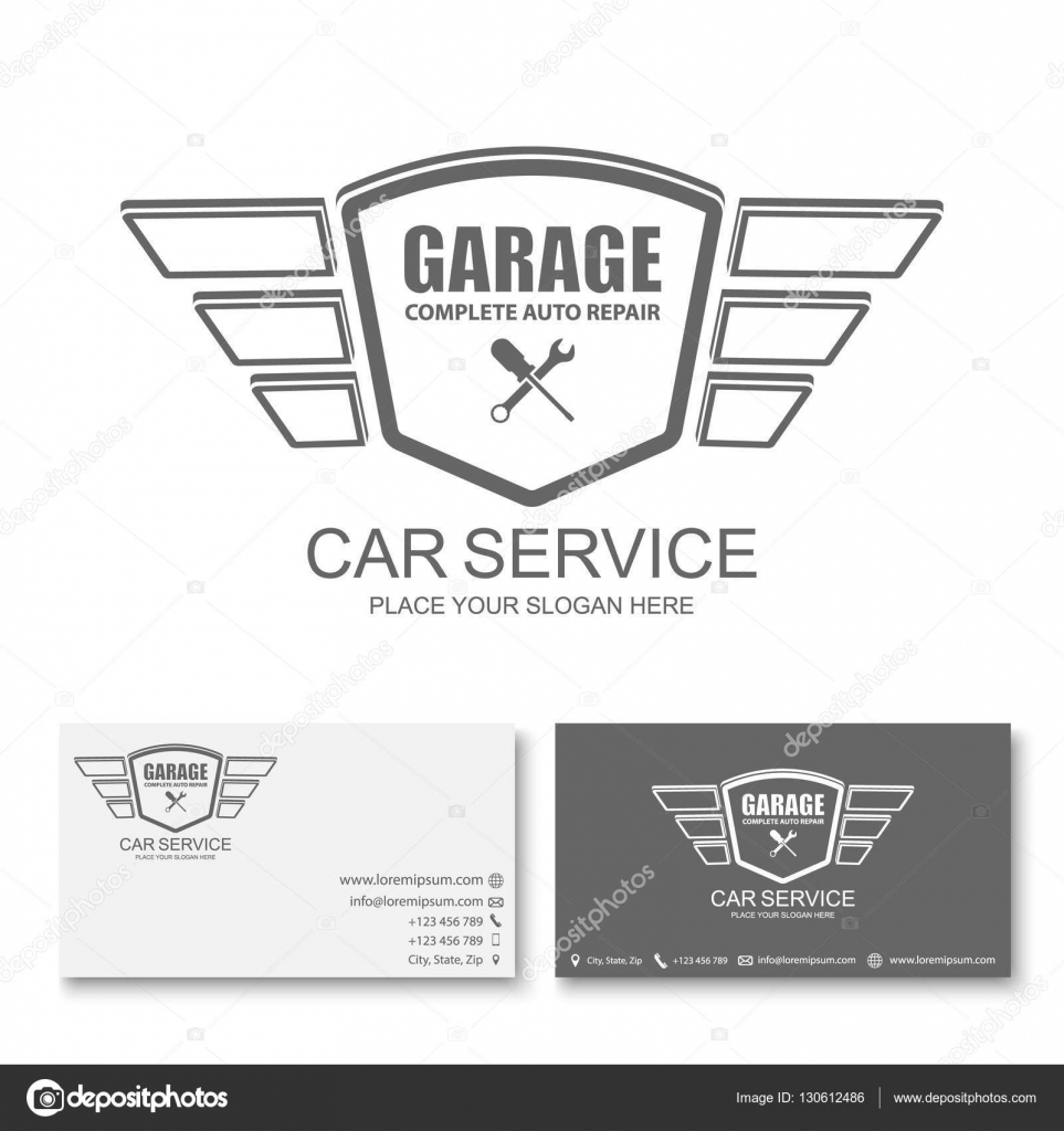 Auto Service Visitenkarte Vorlage Auto Service Logo Vektor
