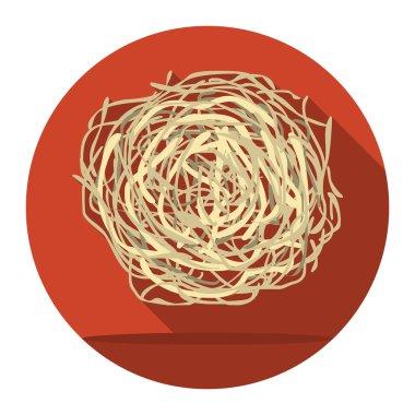 Tumbleweed icon cartoon. Singe western icon from the wild west set.