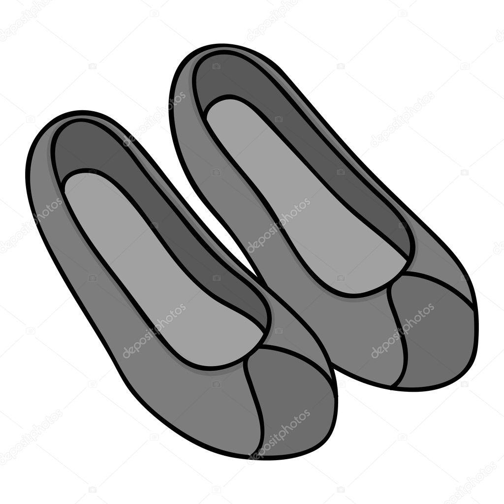 Koreai hagyományos cipők ikon elszigetelt fehér háttér 4c5621e0b1