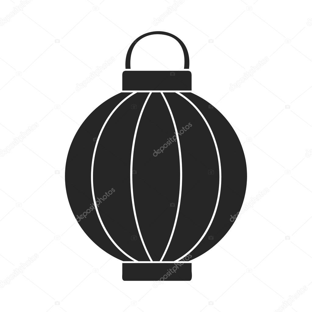 Koreai lámpa ikonjára fekete stílus elszigetelt fehér background. Dél-Korea  szimbólum vektor stock illusztráció– stock illusztrációk fe6d3887a2