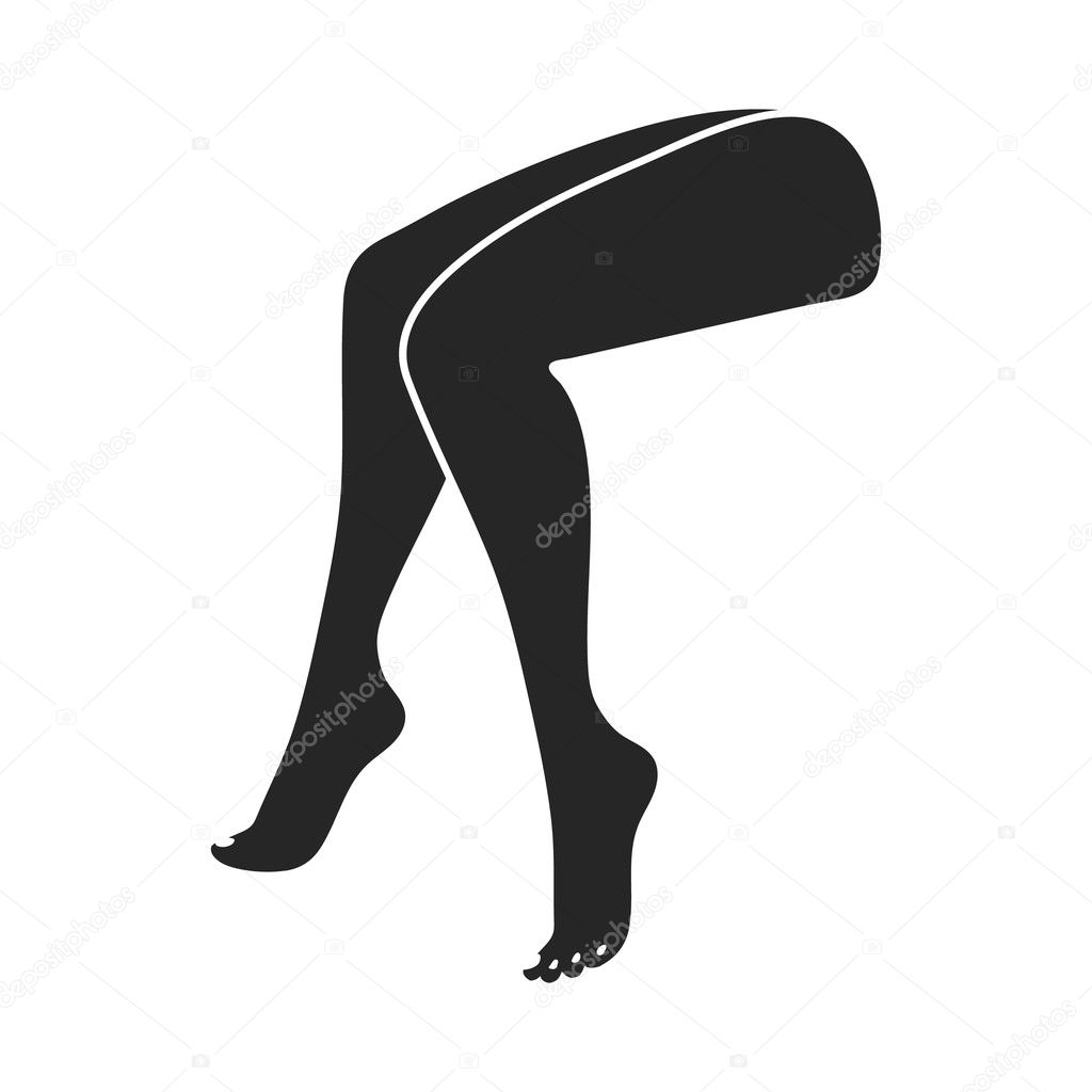 legs icon in black style isolated on white background