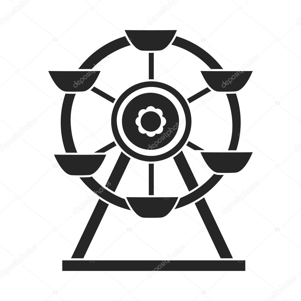 Ferris wheel icon in black style isolated on white background ferris wheel icon in black style isolated on white background play garden symbol stock vector biocorpaavc