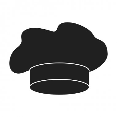 Chefs Hat icon in black style isolated on white background. Hats symbol stock vector illustration.