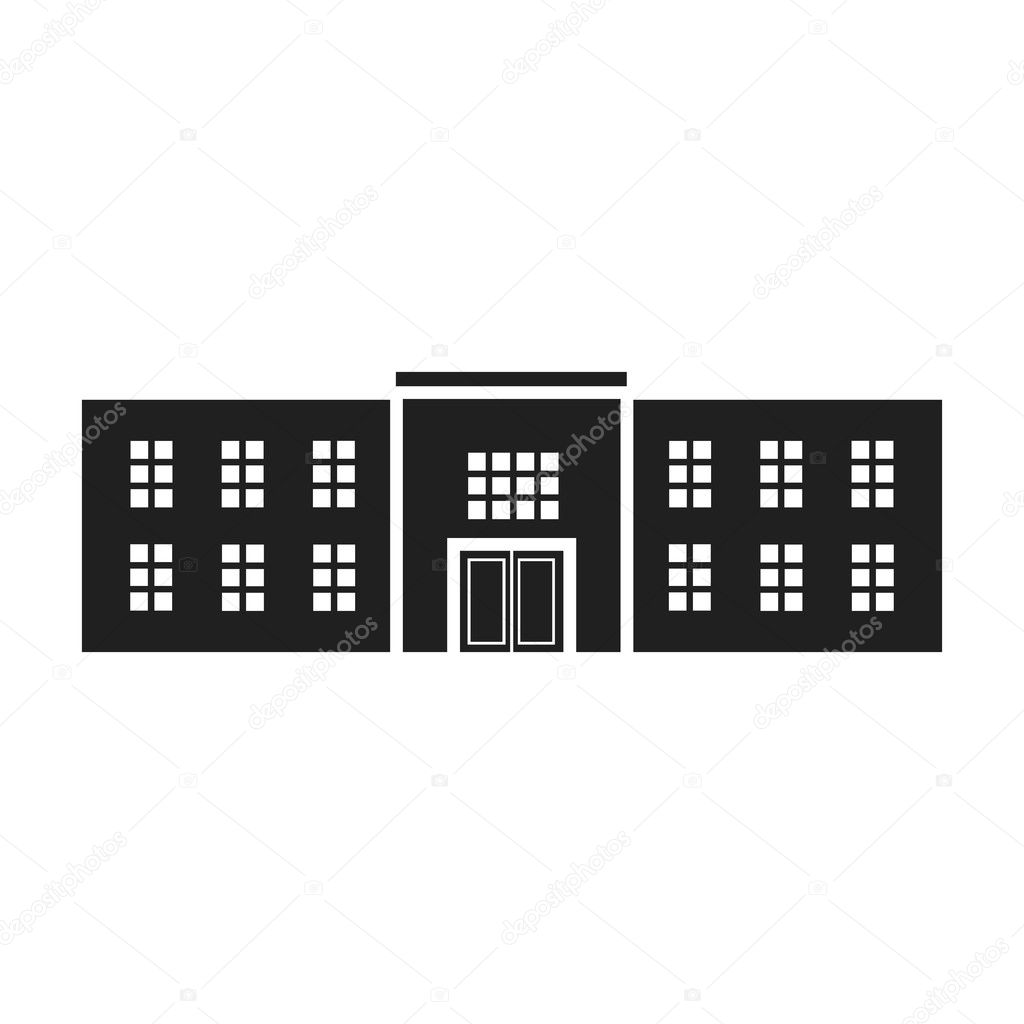 Police station icon in black style isolated on white background police station icon in black style isolated on white background building symbol stock vector illustration biocorpaavc