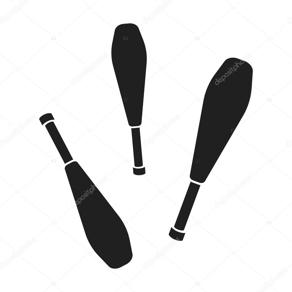 juggling clubs icon in black style isolated on white background rh depositphotos com Nurse Juggling Vector Juggling Vector The Crocodile