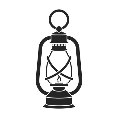 Lantern icon in black style isolated on white background. Mine symbol stock vector illustration.
