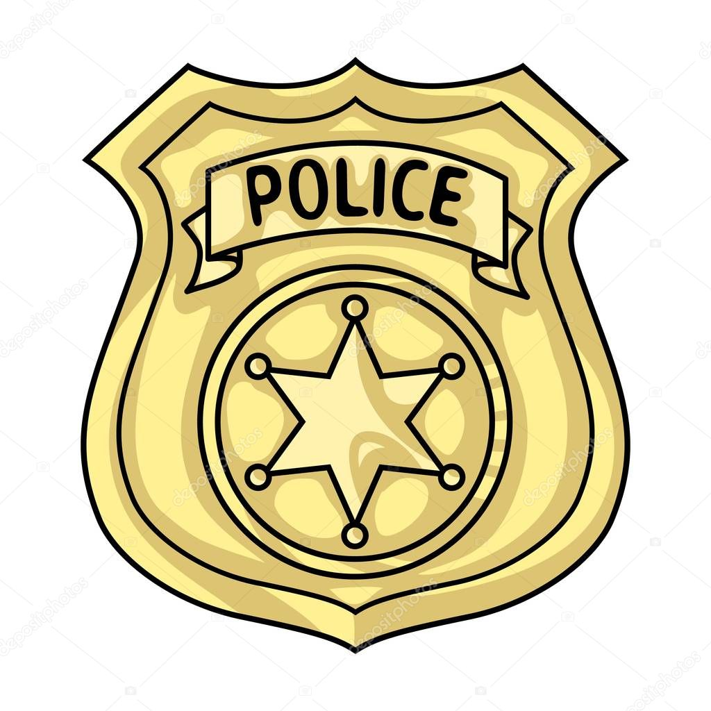 police officer badge icon in cartoon style isolated on white rh depositphotos com police badge vector file police badge vector graphic
