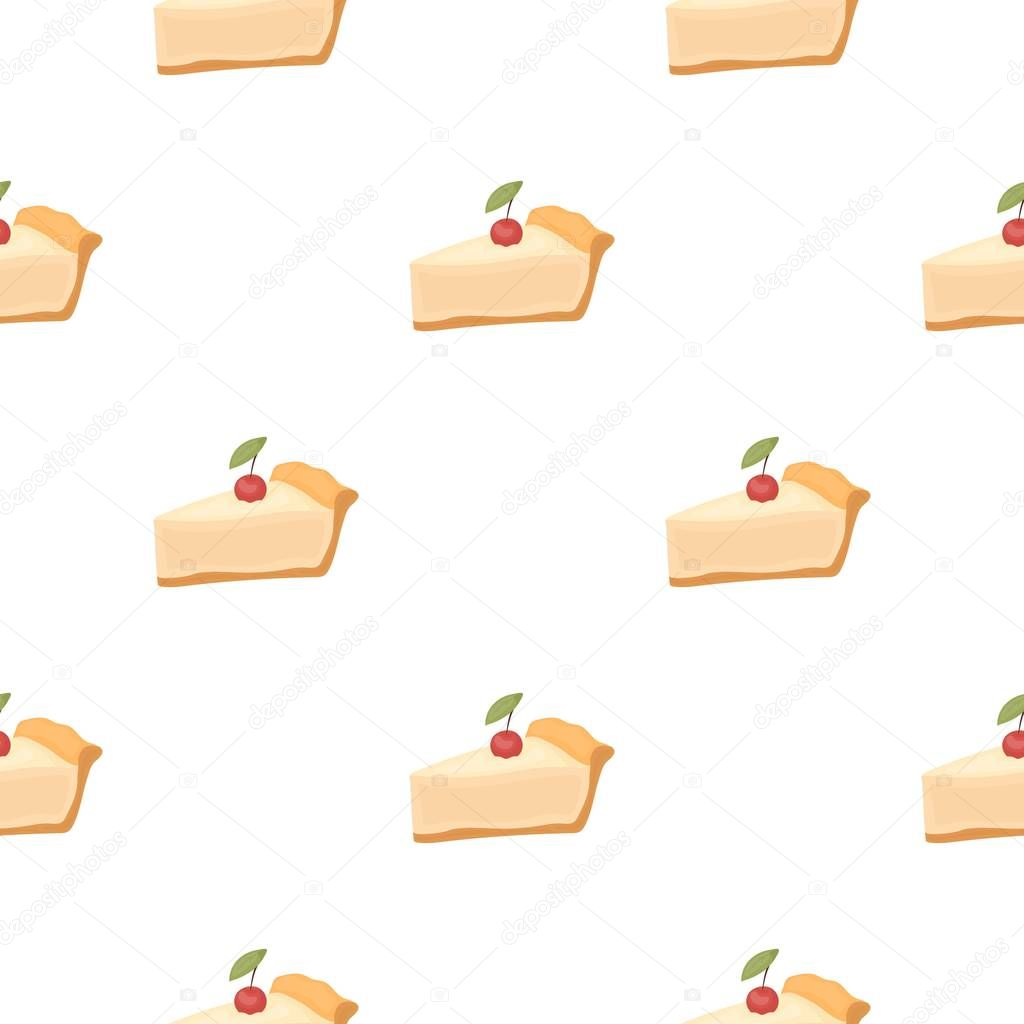 Piece Of Thanksgiving Pie Icon In Cartoon Style Isolated On White