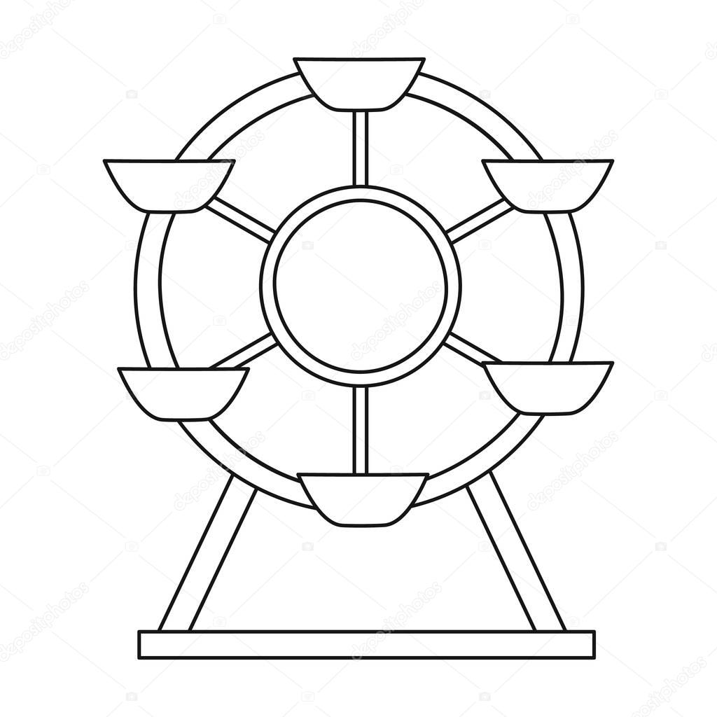 Ferris wheel icon in outline style isolated on white background ferris wheel icon in outline style isolated on white background play garden symbol stock vector biocorpaavc