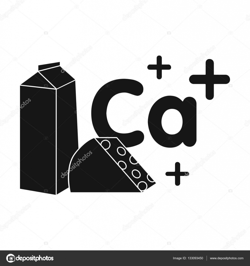 Sources of calcium icon in black style isolated on white sources of calcium icon in black style isolated on white background dental care symbol stock buycottarizona Choice Image