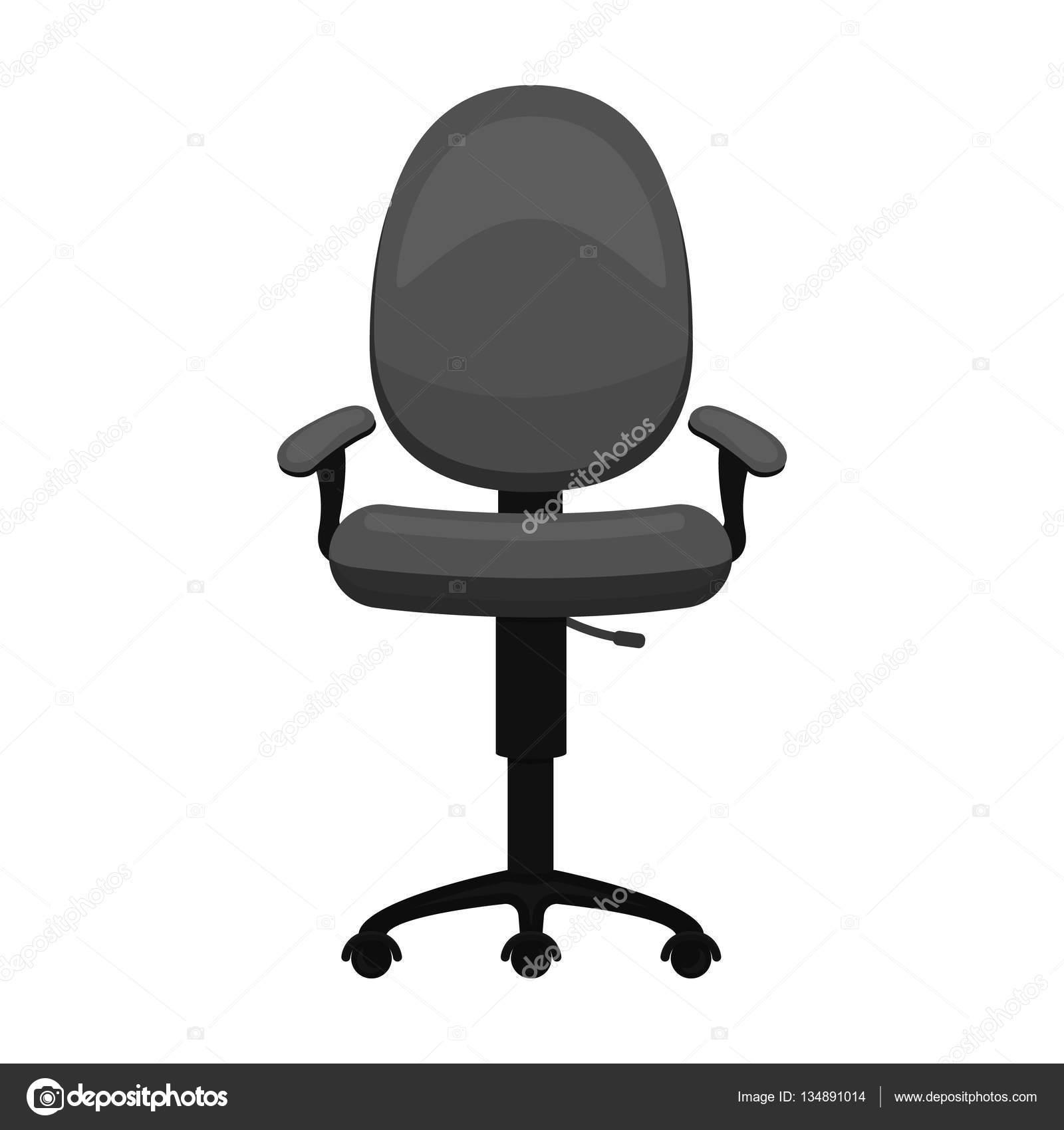 Poltrona Ufficio In Stile.Icona Poltrona Ufficio In Stile Monocromatico Isolato Su Priorita