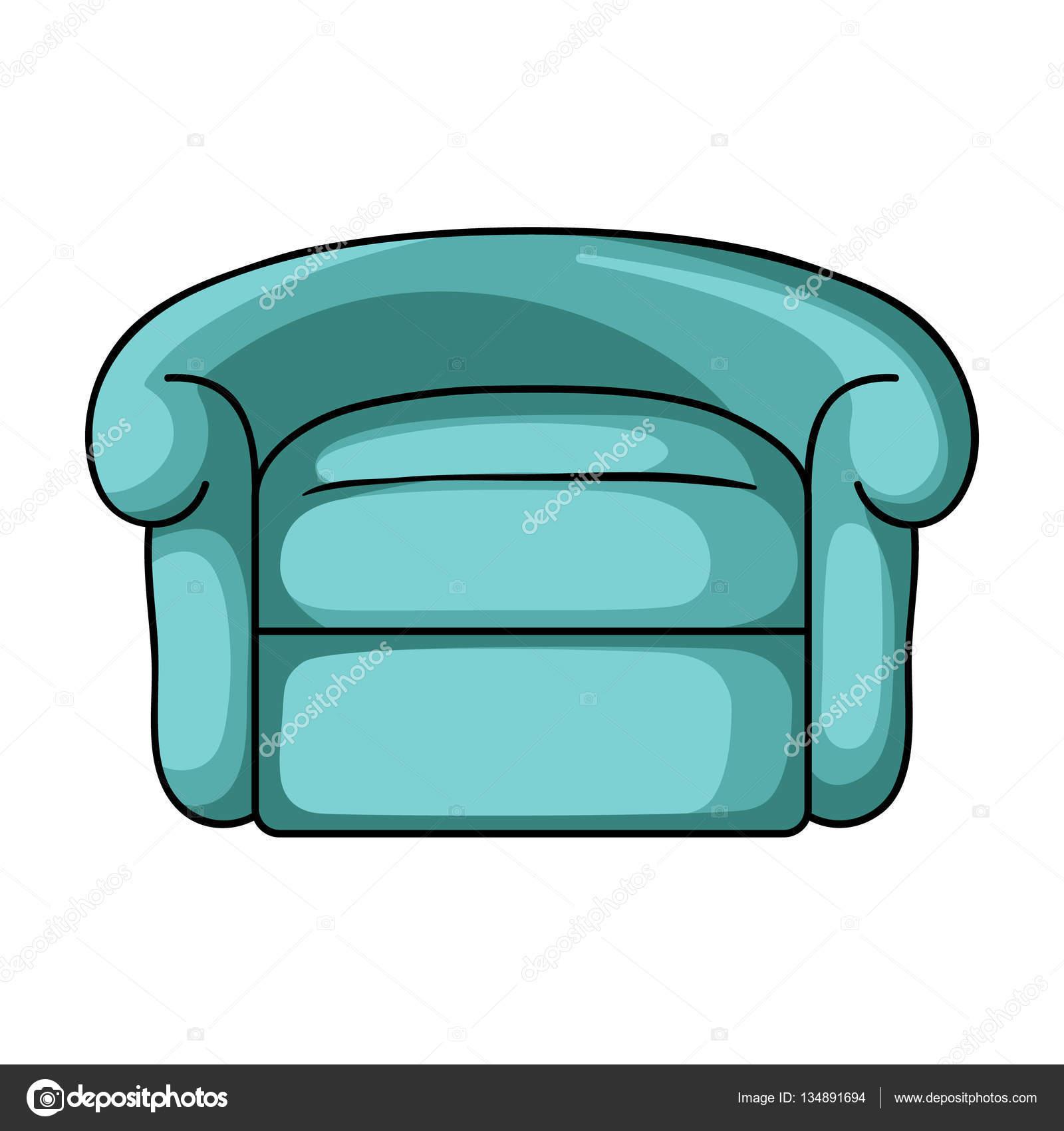 Sill n icono en estilo de dibujos animados aislado sobre for Mueble animado