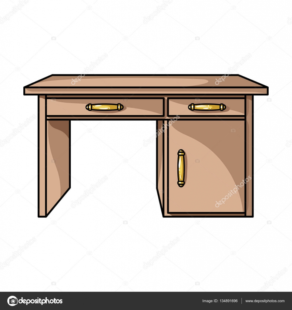 Icono de escritorio de oficina en estilo de dibujos animados aislado sobre fondo blanco muebles - Fondos de escritorio animados ...