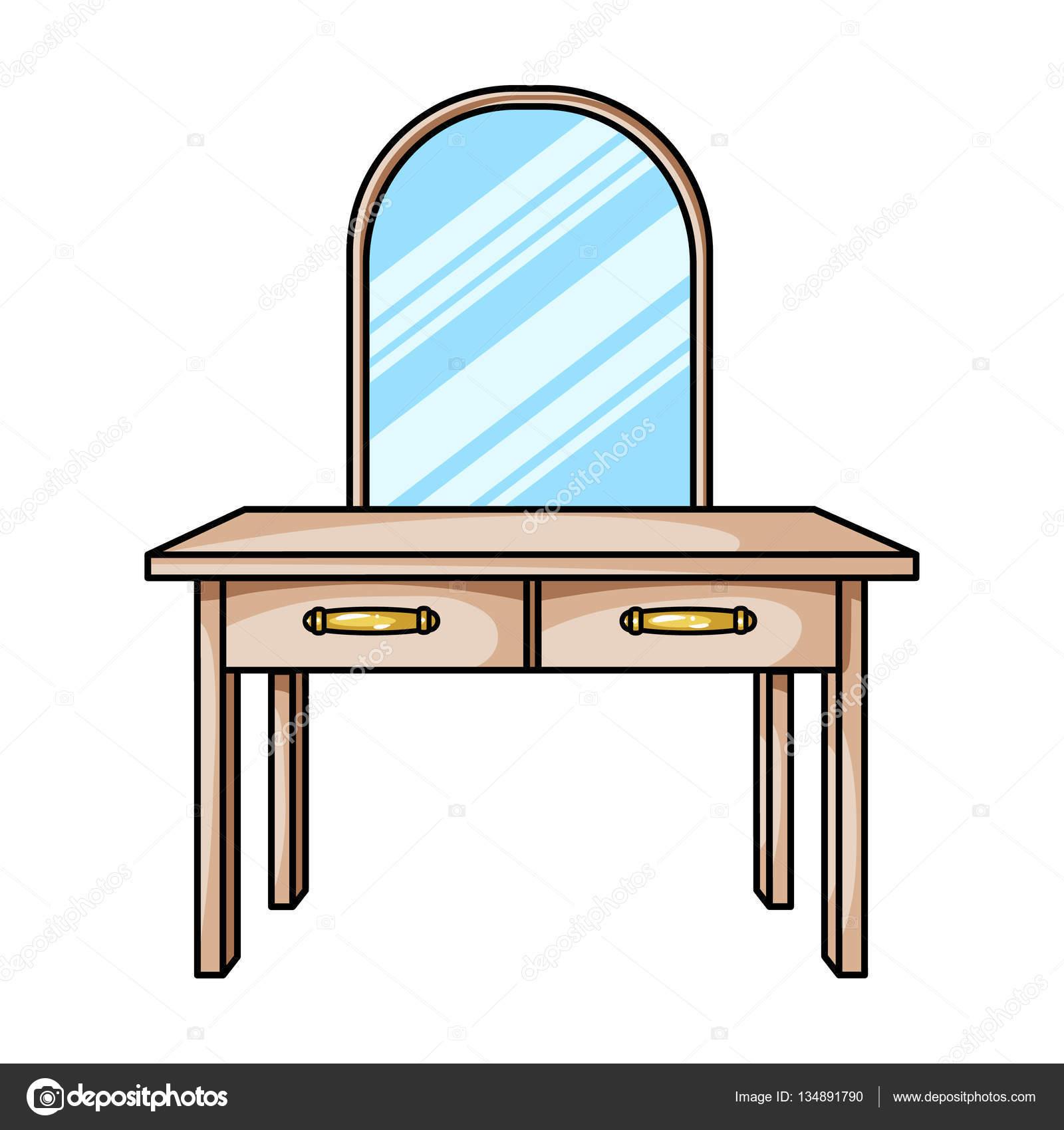 Icono de tocador en estilo de dibujos animados aislado for Dibujos de muebles