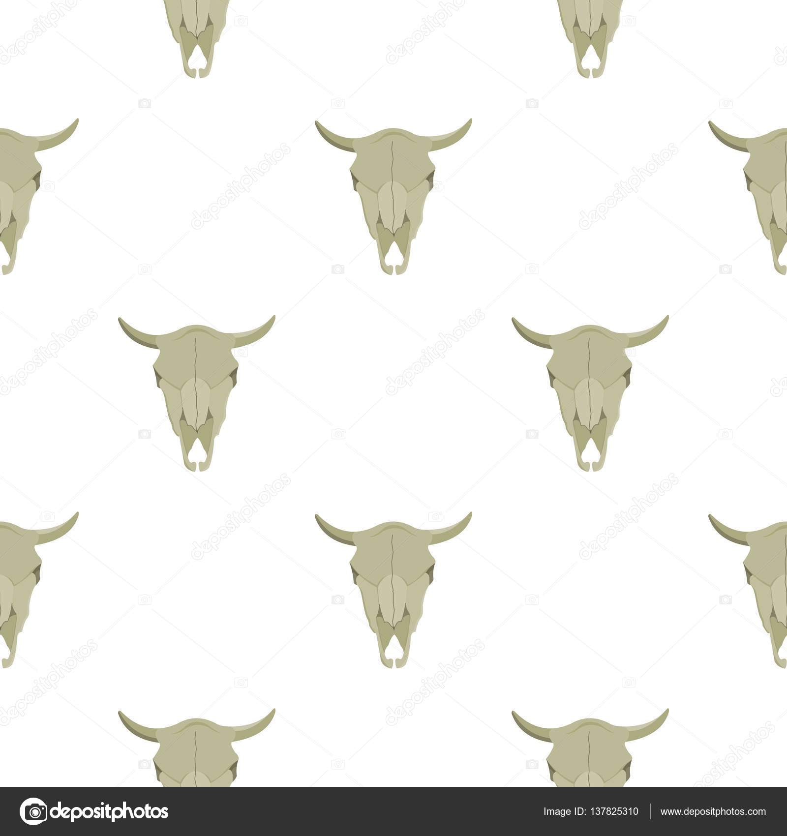 bull skull icon cartoon singe western icon from the wild west