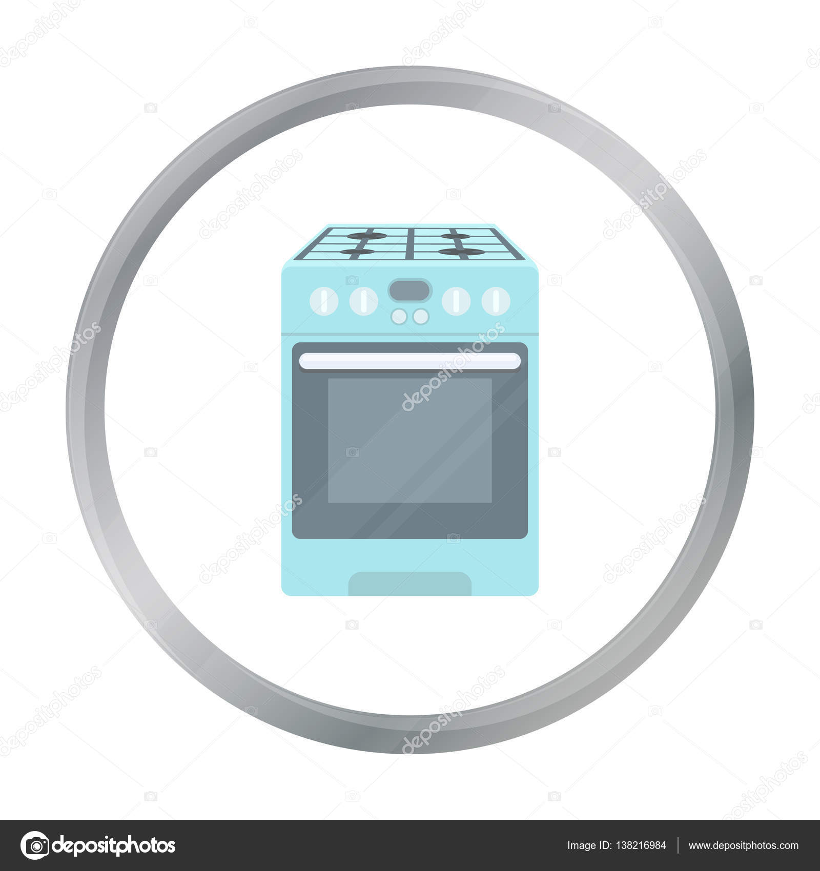 Icono de la estufa de la cocina en estilo de dibujos for La cocina de dibujos pdf