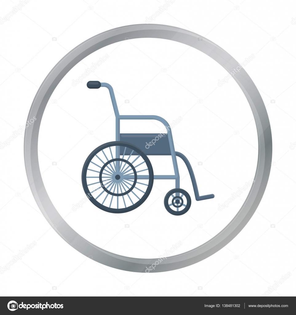 Dibujos animados icono de silla de ruedas icono de medicina solo de la gran caricatura m dica - Tamano silla de ruedas ...