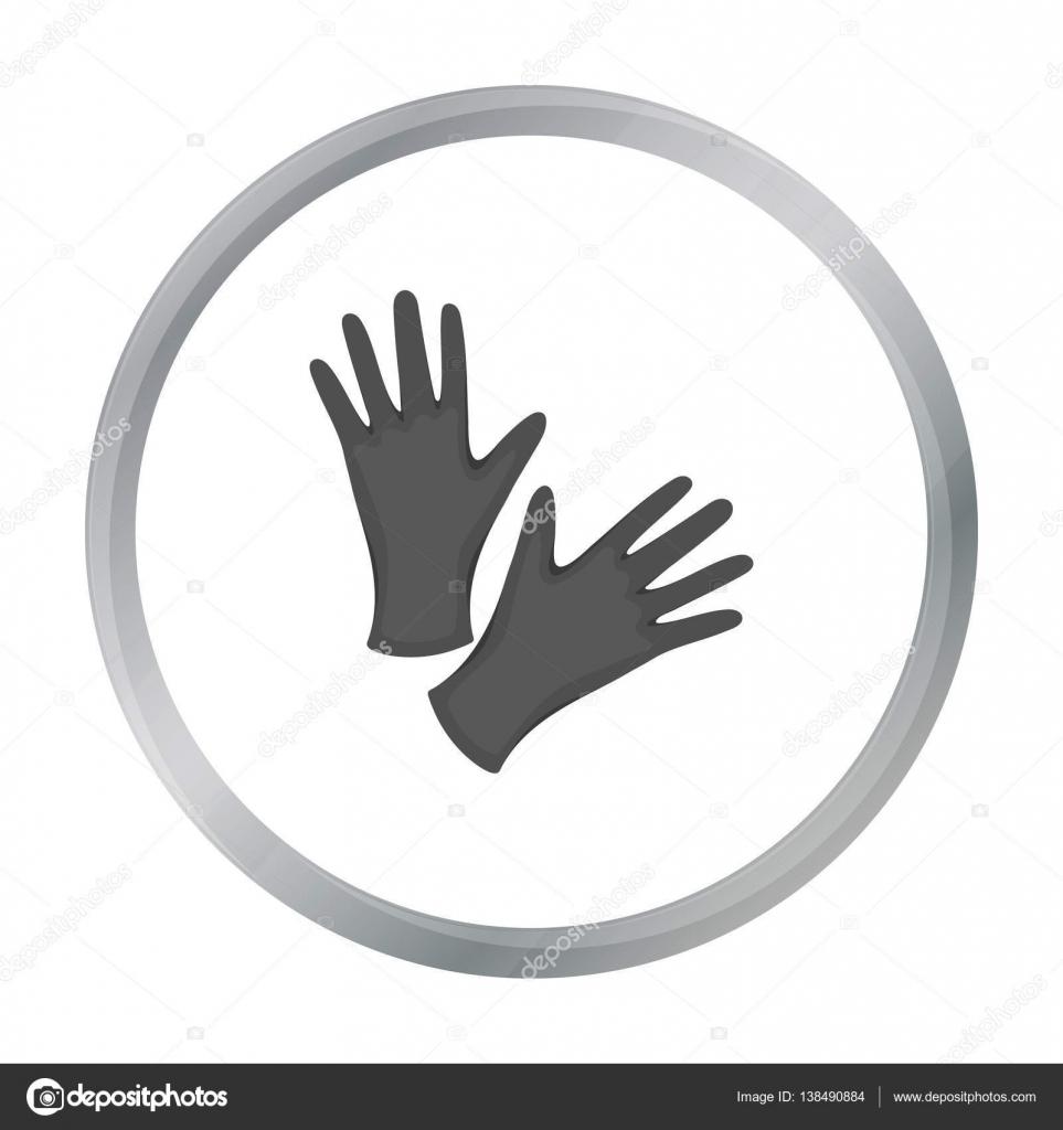 Nero gomma protettivo guanti icona dei cartoni animati
