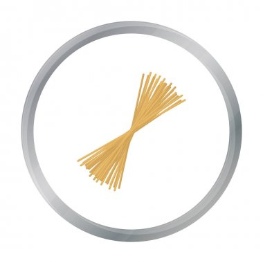Spaghetti pasta icon in cartoon style isolated on white background. Types of pasta symbol stock vector illustration.