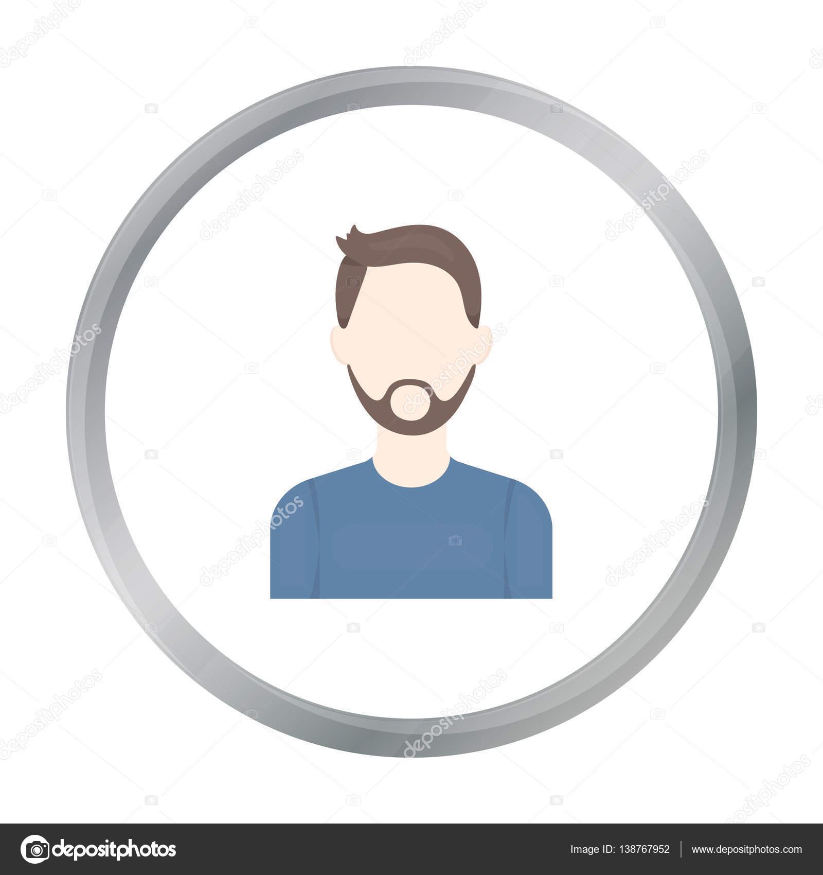 Uomo con il fumetto di icona di barba. avatar unico maybe icona dal