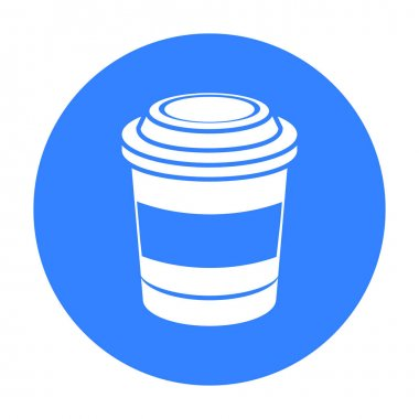 Coffee vector icon in black style for web
