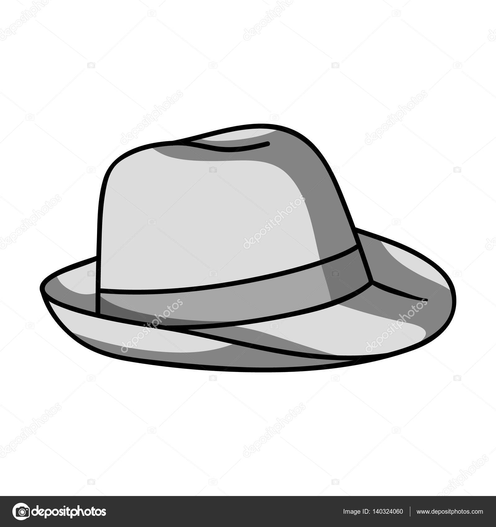 Cappello Panama icona design monocromatico isolato su priorità bassa  bianca. Illustrazione di stock di simbolo di surf — Vettoriali di  PandaVector 323cb4b528d1
