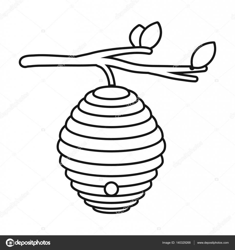 het pictogram de bijenkorf in kaderstijl ge 239 soleerd op