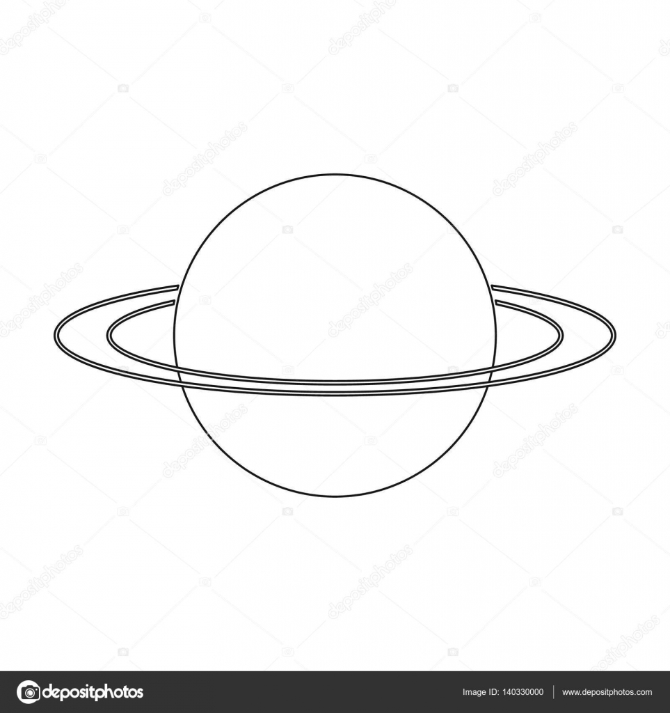 Uranus icon in outline style isolated on white background planets uranus icon in outline style isolated on white background planets symbol stock vector illustration biocorpaavc Images