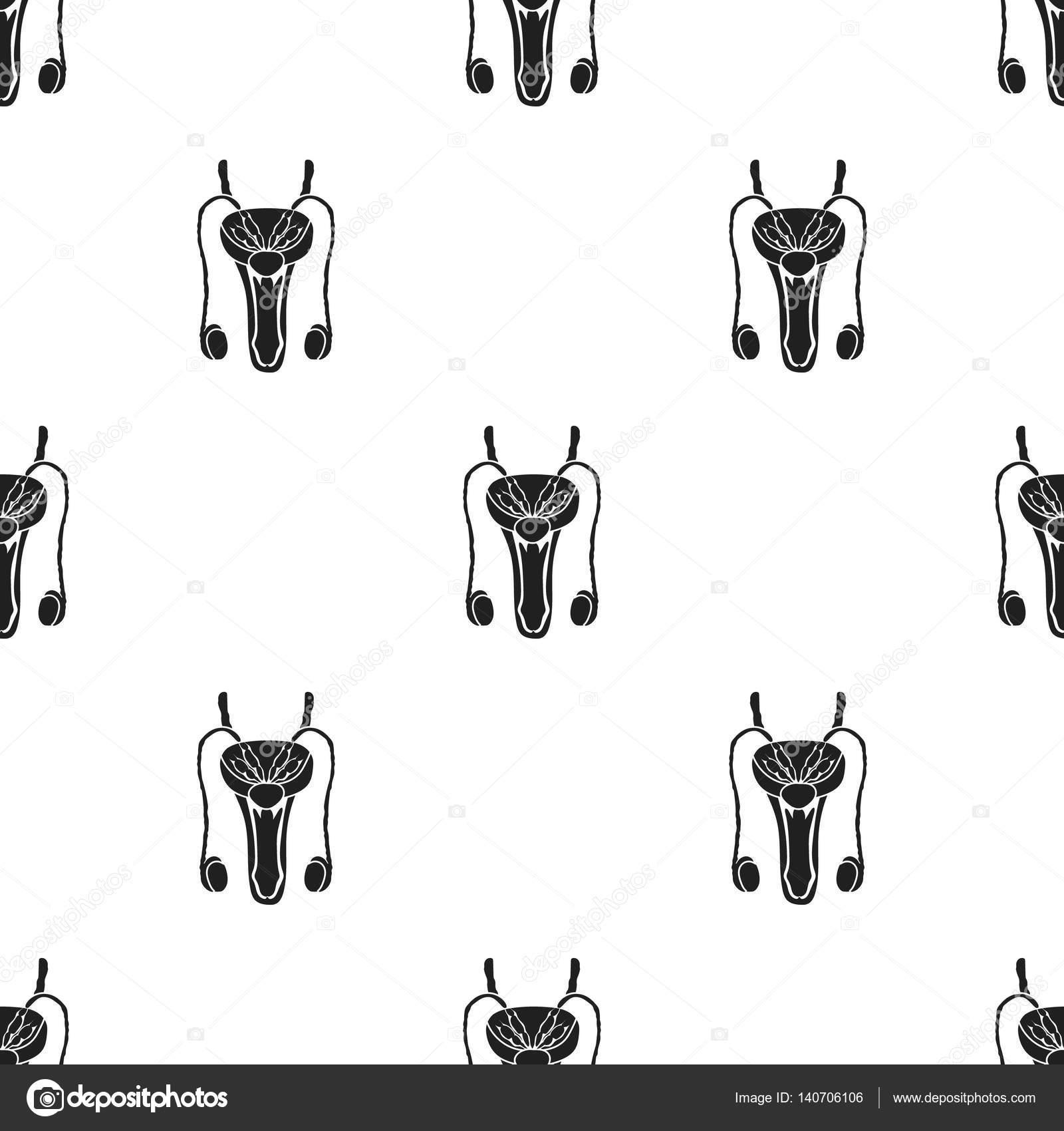 Männlichen Geschlechtsorgane Symbol im schwarzen Stil isoliert auf ...