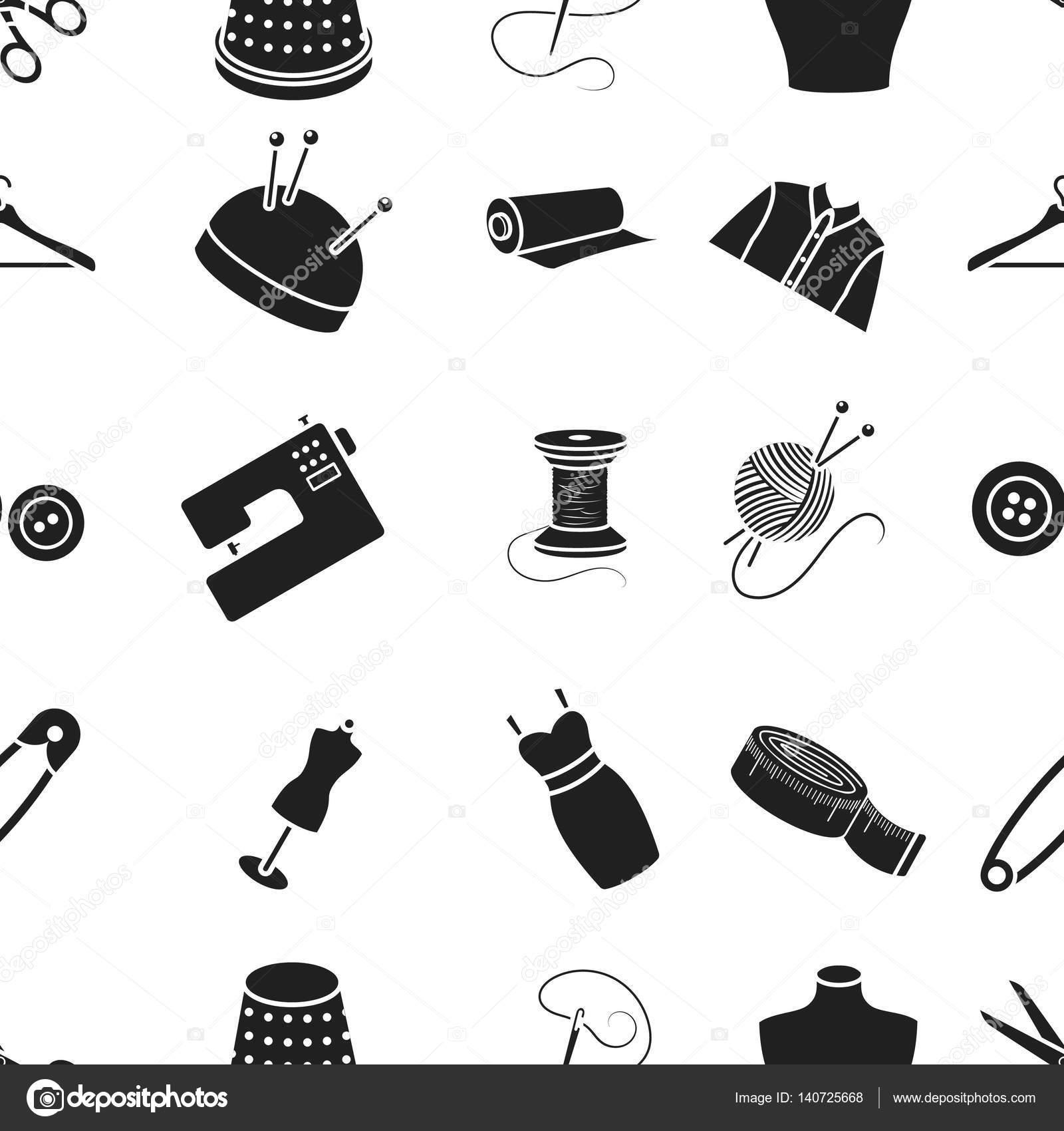 Atelie Muster Symbole im schwarzen Stil. Große Sammlung von Atelie ...