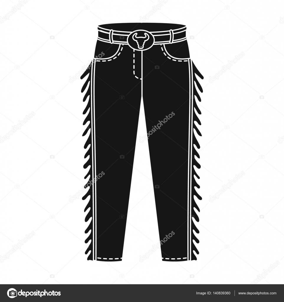 6a1ddb373 Vaquero jeans en icono estilo monocromo aislado sobre fondo blanco ...