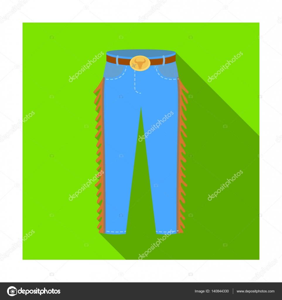 32f257fff Vaquero jeans en icono estilo plano aislado sobre fondo blanco ...